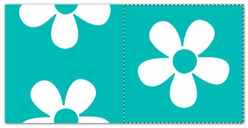Blomst med markering