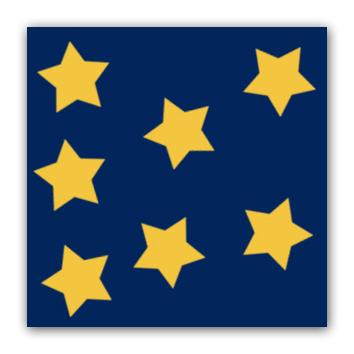 Stjerner pa blatt