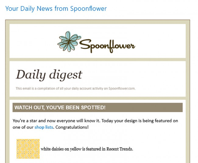 Daily news from Spoonflower daisies on yellow