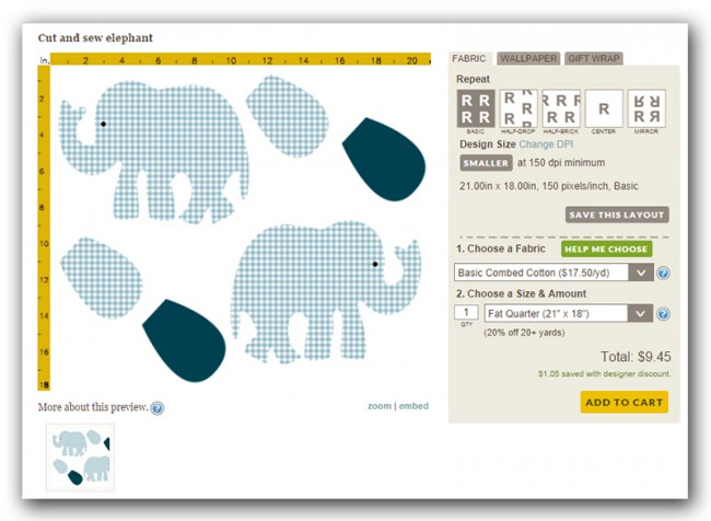 spoonflower elefant