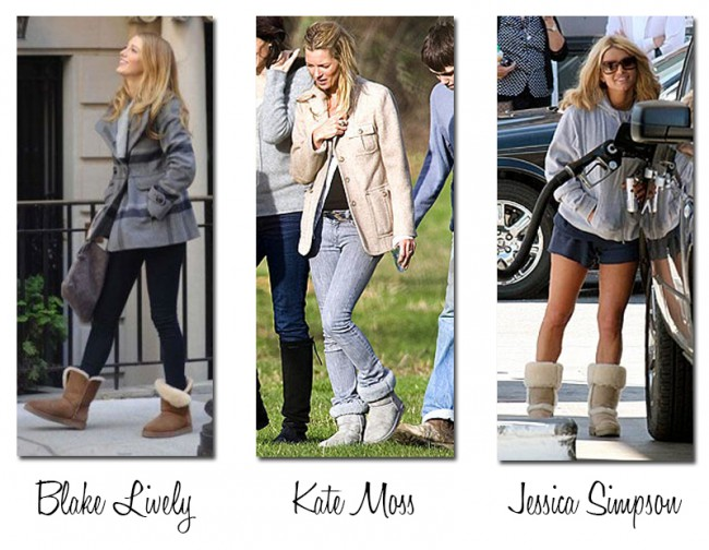uggs celebrity kollasje red