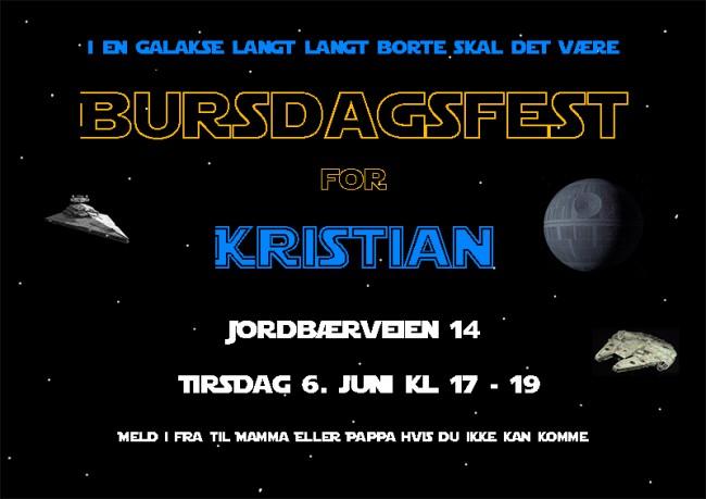Star Wars invitasjon 2